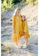 Mušelínové šaty dlhý rukáv